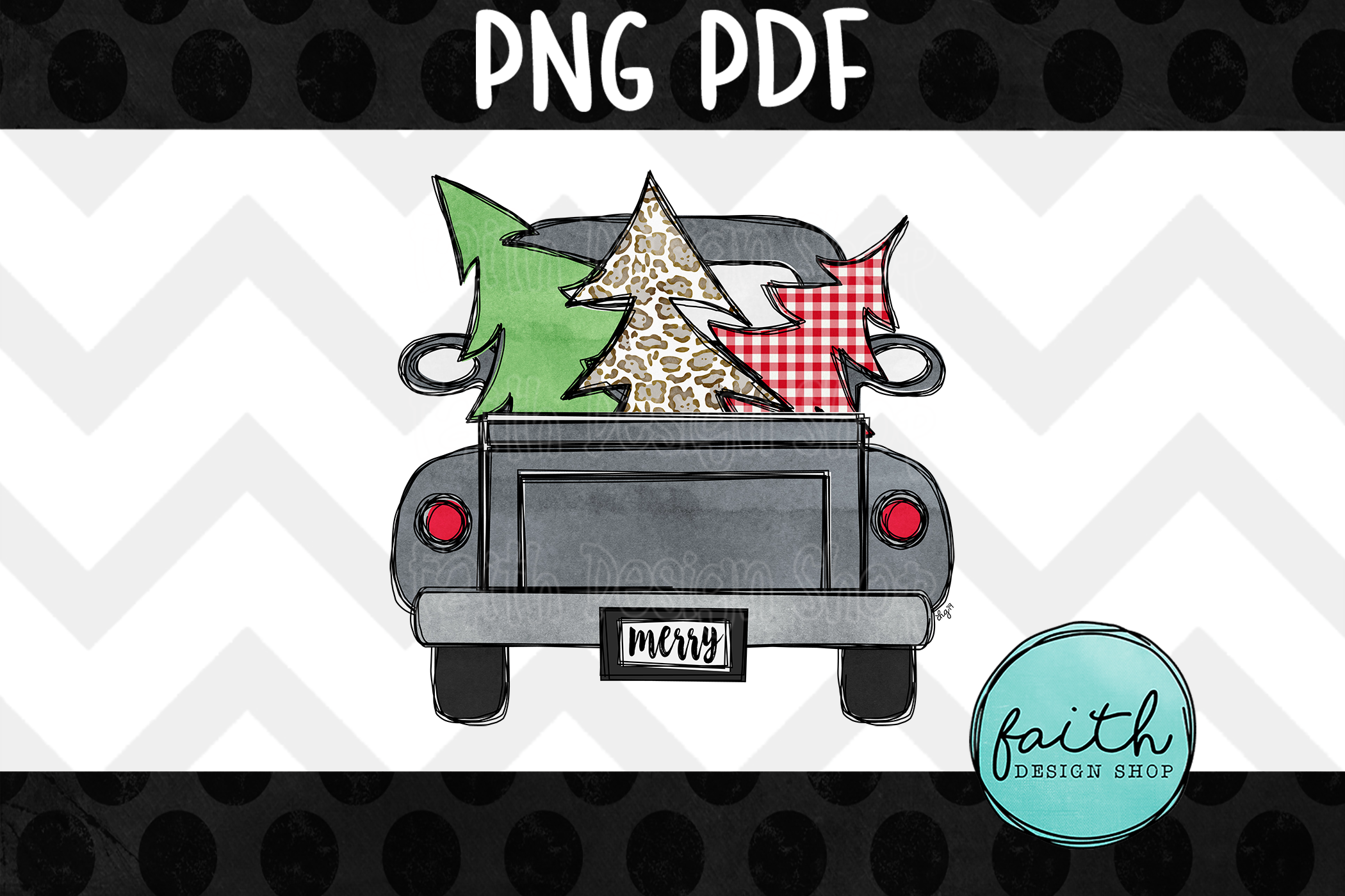 Christmas Trees with Truck example image 1