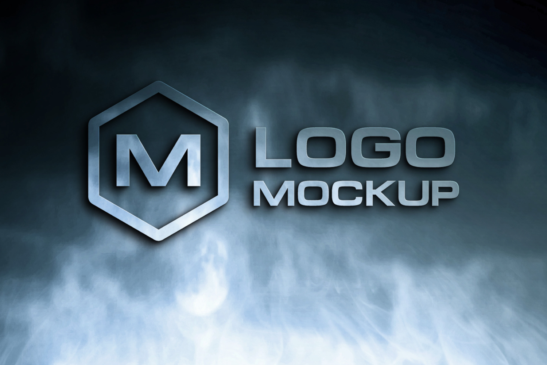 3D Logo Mock-up Bundle example image 8