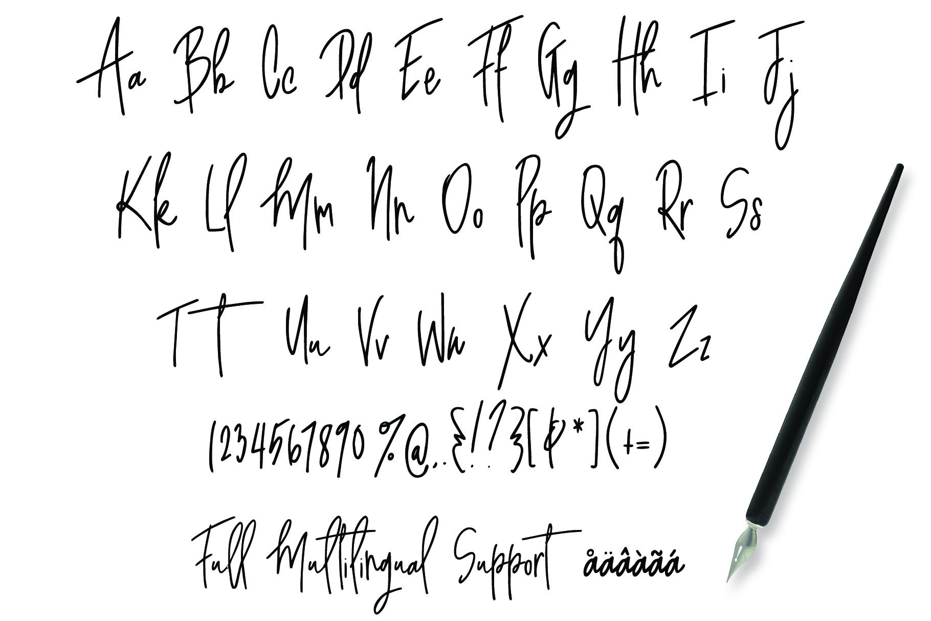 Awestruck Signature Style Font example image 7