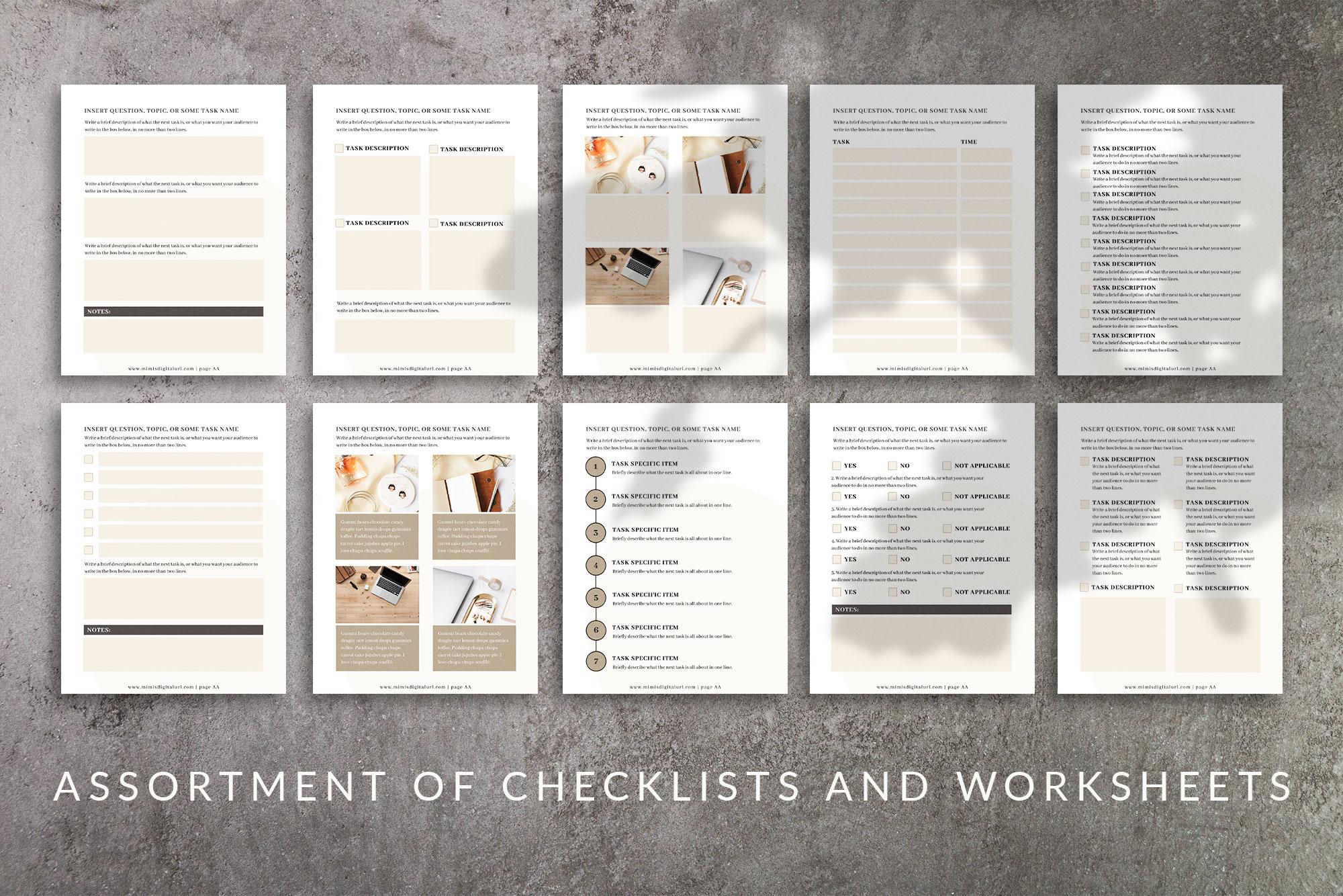 Workbook Canva Template | Mink example image 7