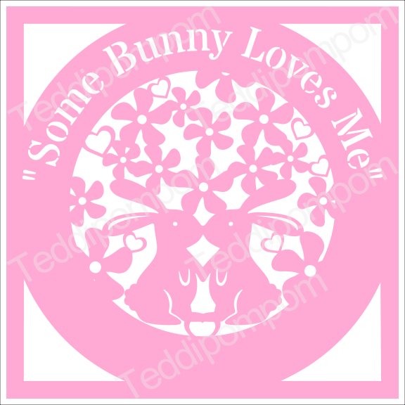 Bunny SVG Rabbit SVG cutting file Some Bunny Loves Me SVG Easter Spring Papercutting, Wedding, Cricut & Silhouette , Scrapbooking, Card Making example image 1