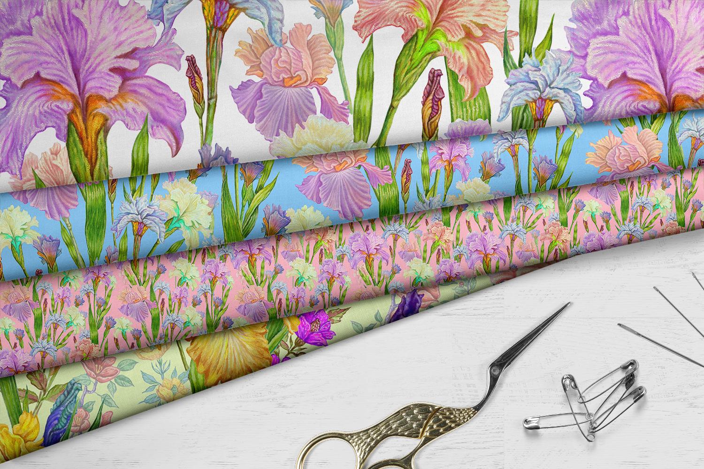Iris digital paper. seamless pattern.Floral digital paper. example image 7