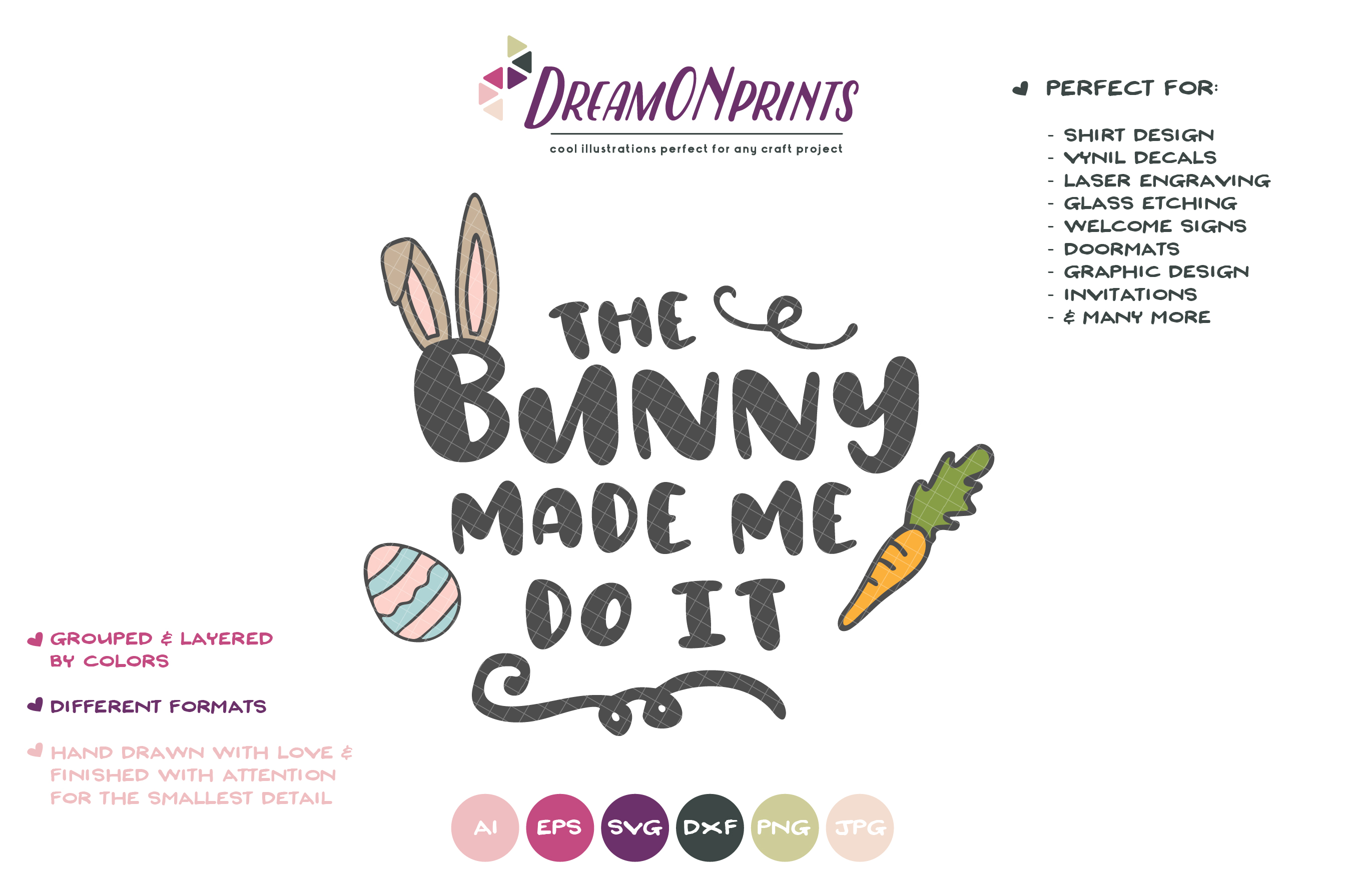 Funny Easter Bunny SVG - The Bunny Made Me Do It example image 2