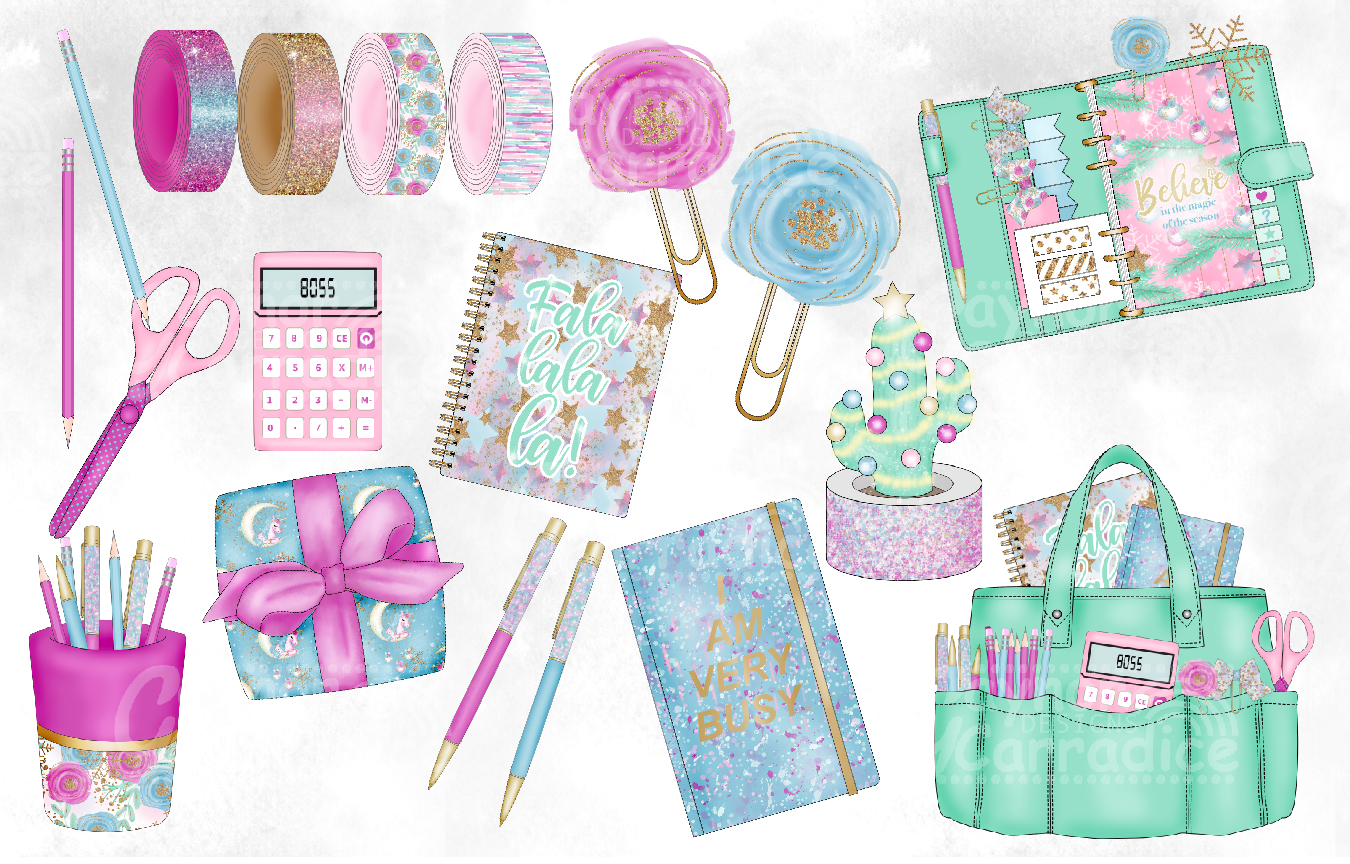 Sweet Christmas - Christmas planner Clipart example image 2