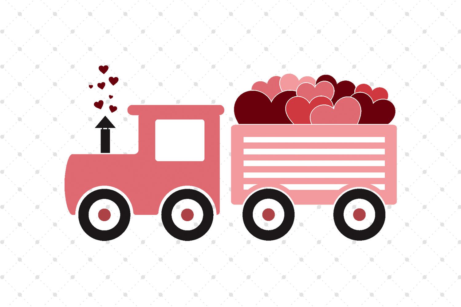 Valentines Day Train SVG Cut Files example image 1