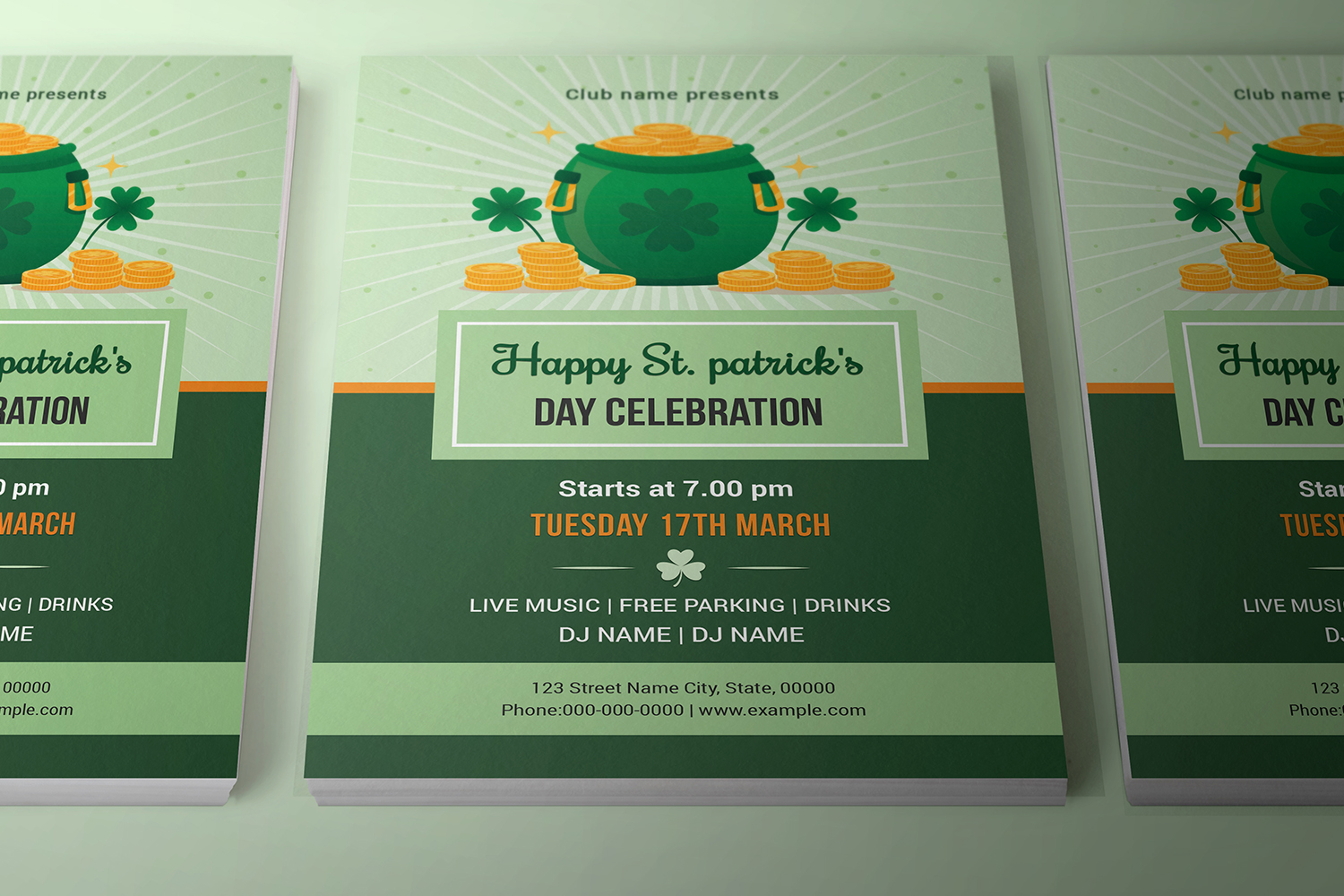 Saint Patricks Day Flyer, Ms Word & Photoshop Template example image 3