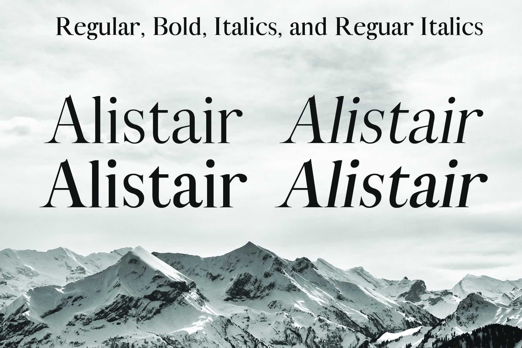 ALISTAIR FONT, A modern Serif example image 3