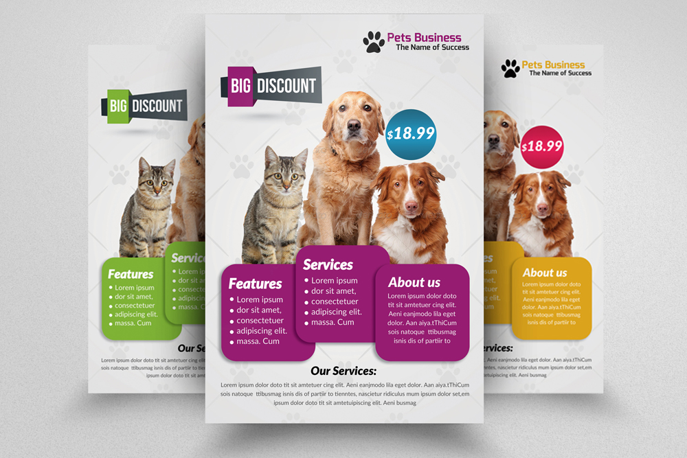 6 Pet Shop Business Flyers Bundle example image 3