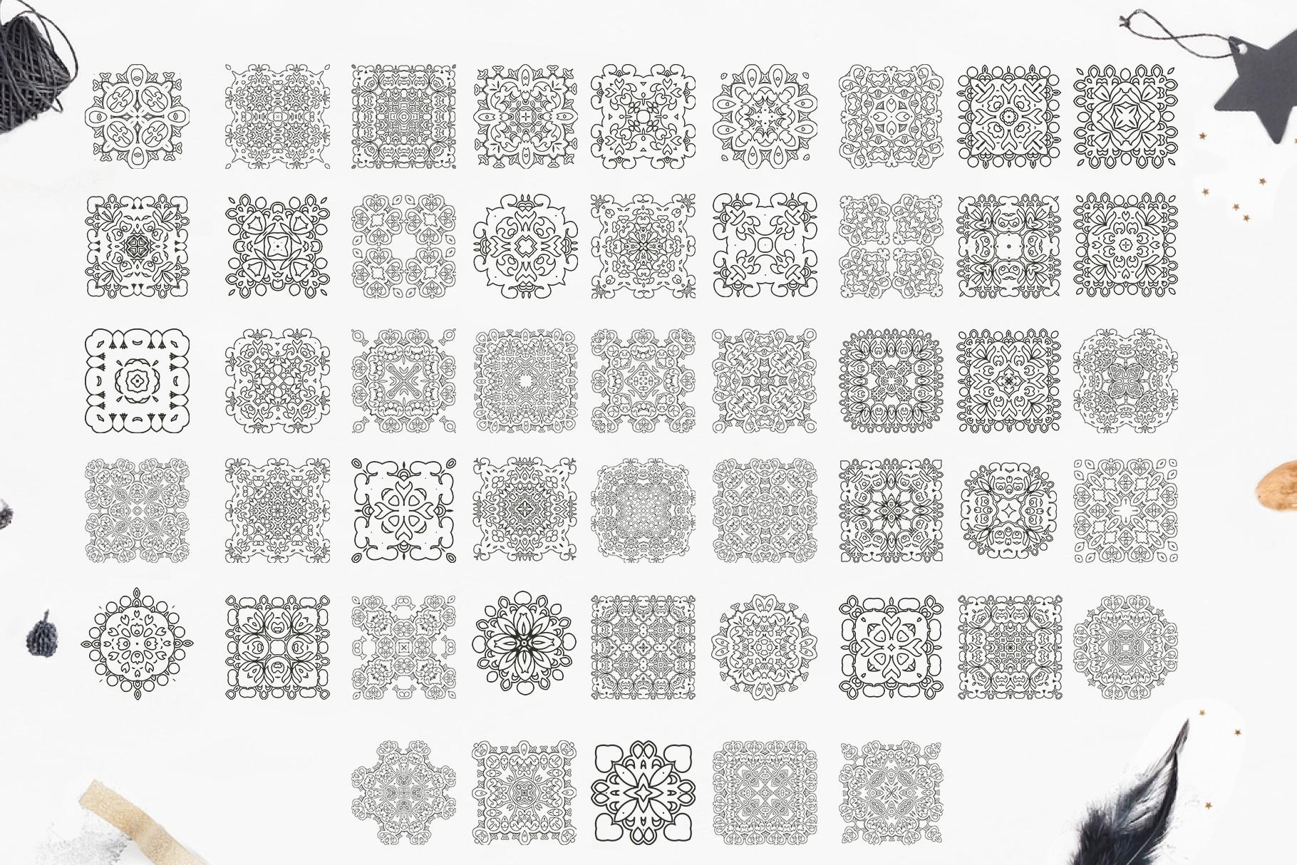 280 Ethnic MANDALAS square and round example image 5