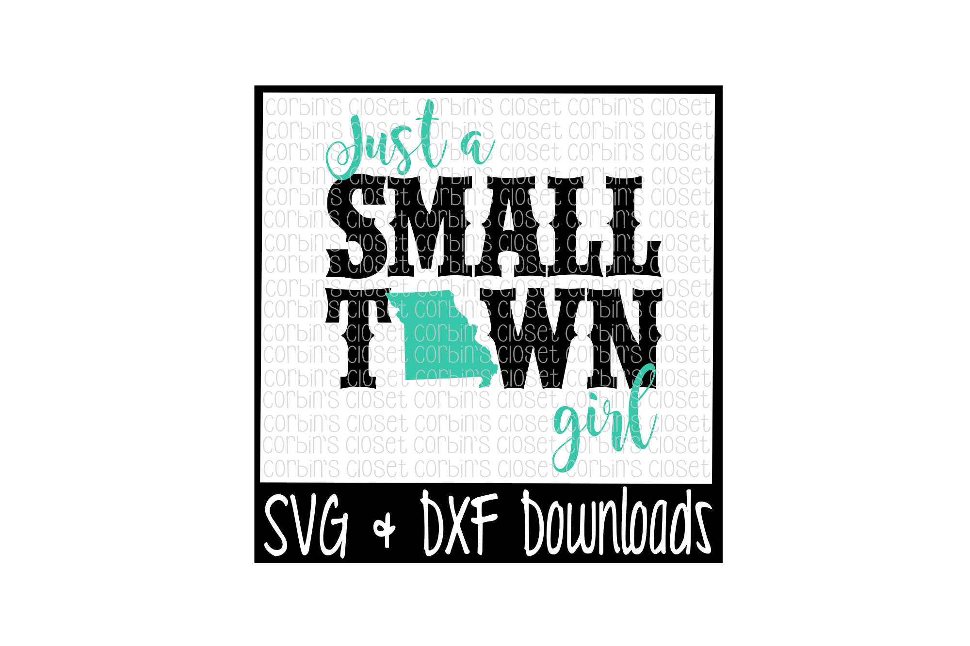 Just A Small Town Girl Missouri Cut File example image 1