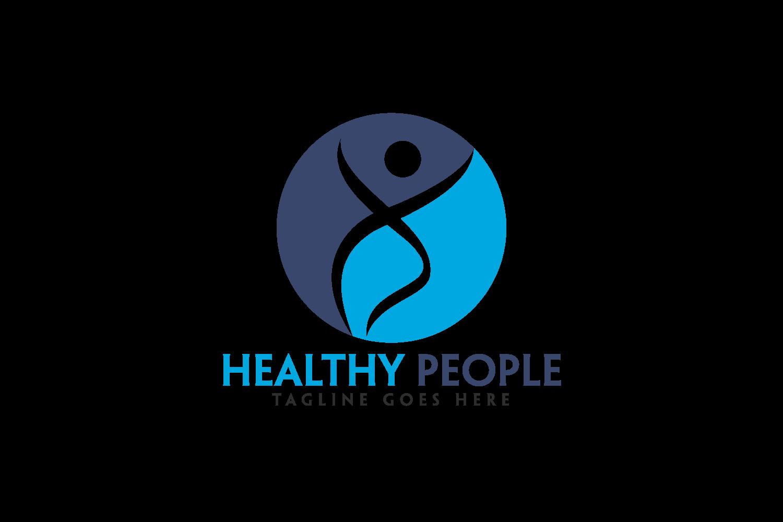 Healthy People Logo Design. example image 2