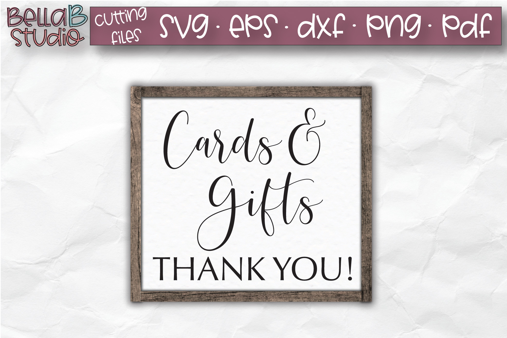 Wedding Sign SVG, Cards and Gifts SVG, Wedding SVG example image 1
