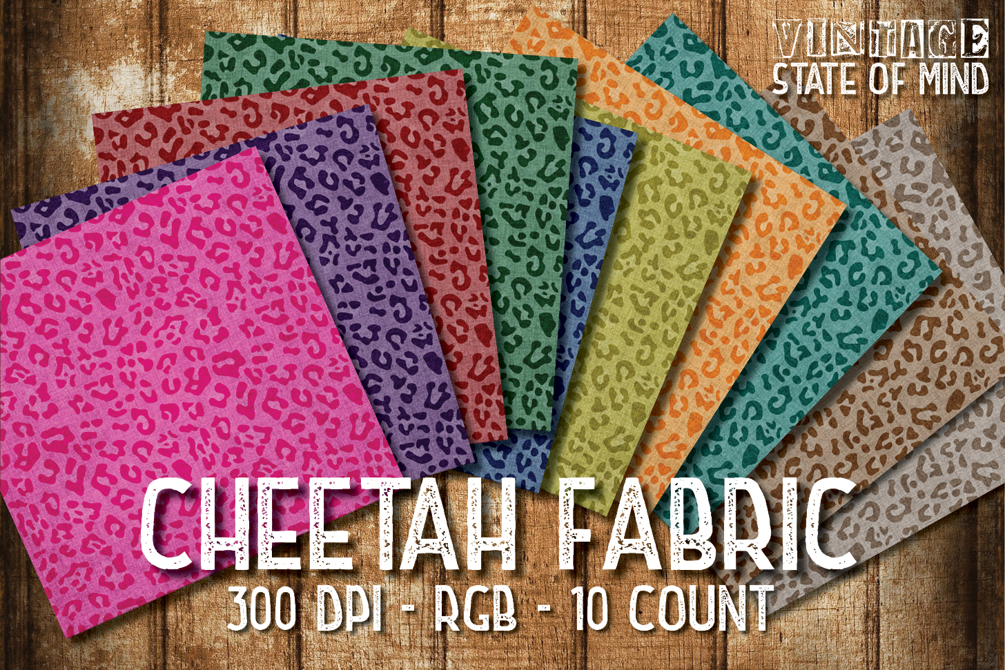 Cheetah Fabric Digital Papers example image 2