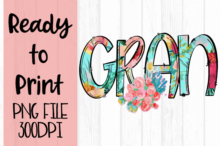 Bright Floral Gran Ready to Print example image 1