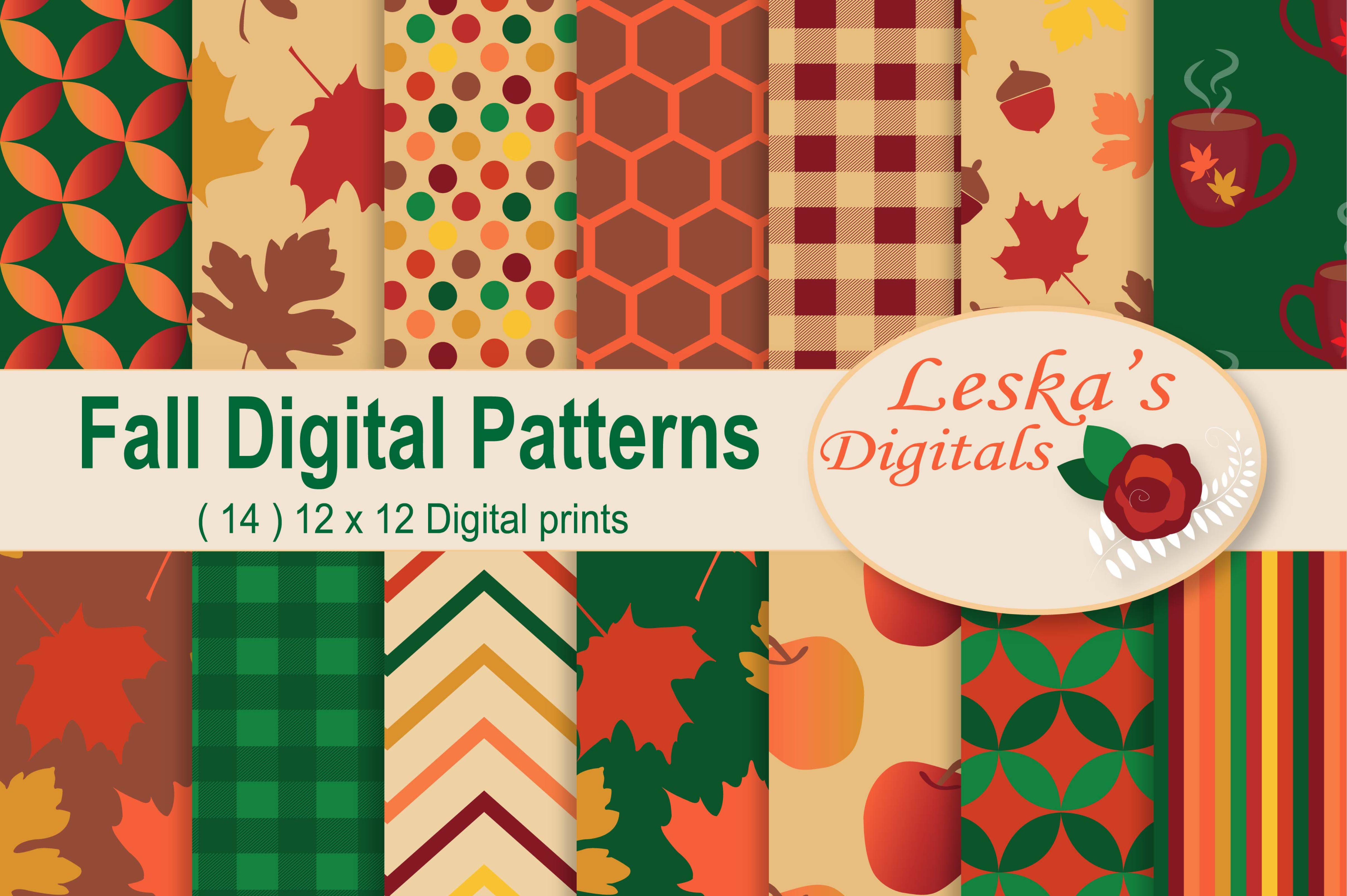 Fall Digital Patterns example image 1