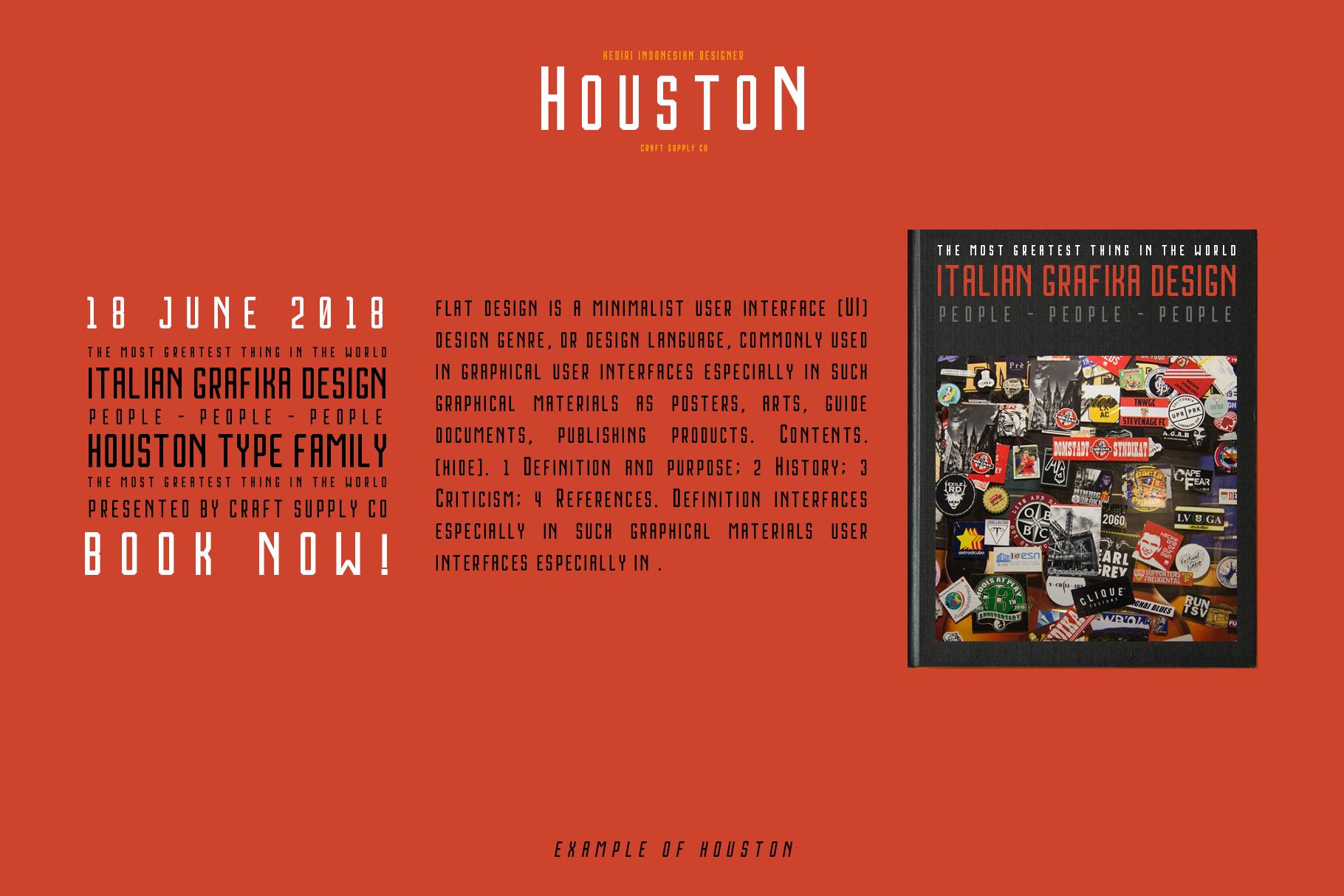 Houston Font Family example image 2