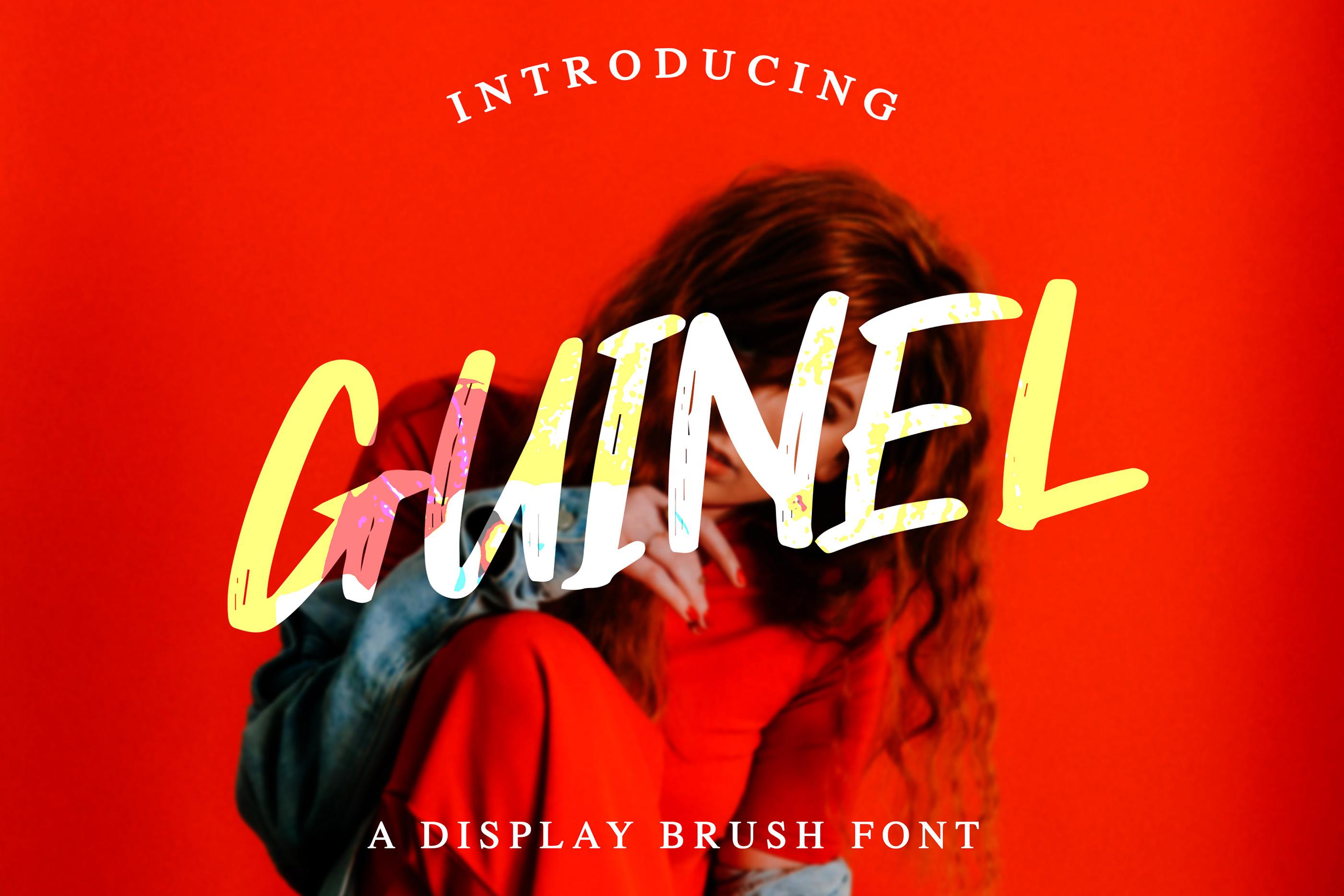 Guinel Handbrush Display Font example image 1