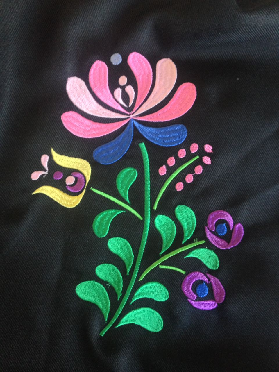 Flower JAZ embroidery design, 195 x 150.2 mm (7.6 'x 6') embroidery matrix, different sizes embroidery design Embroidery matrix, Mexican design example image 4