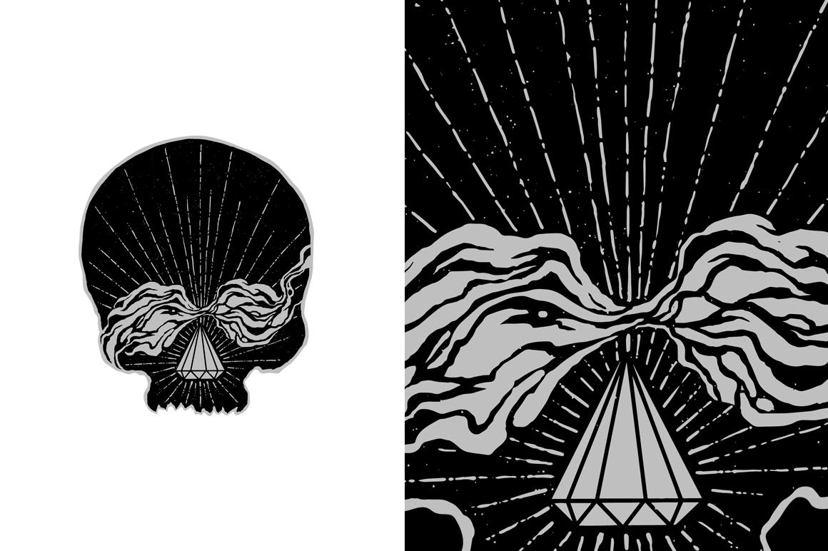 20 VECTOR skull illustration example image 17