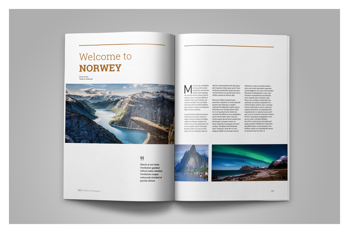Indesign Magazine Template example image 10