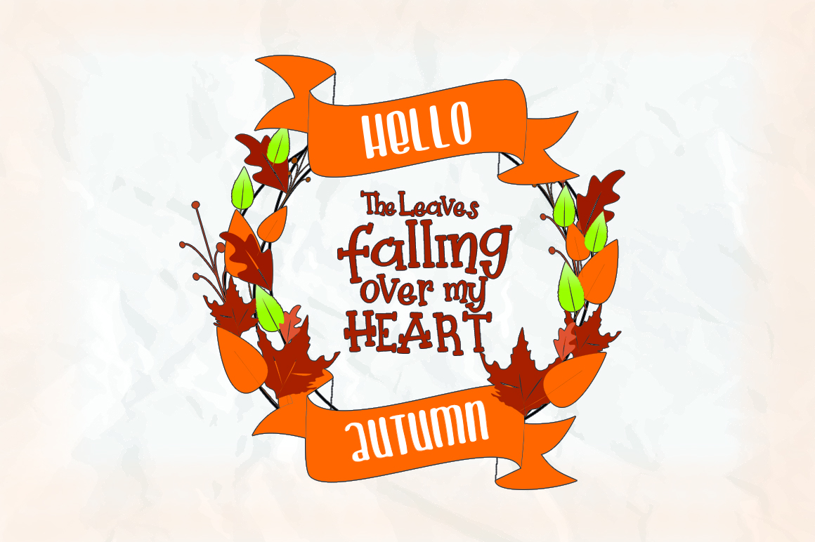 Pretty Pumpkin - Fun Serif Font with Frame example image 8