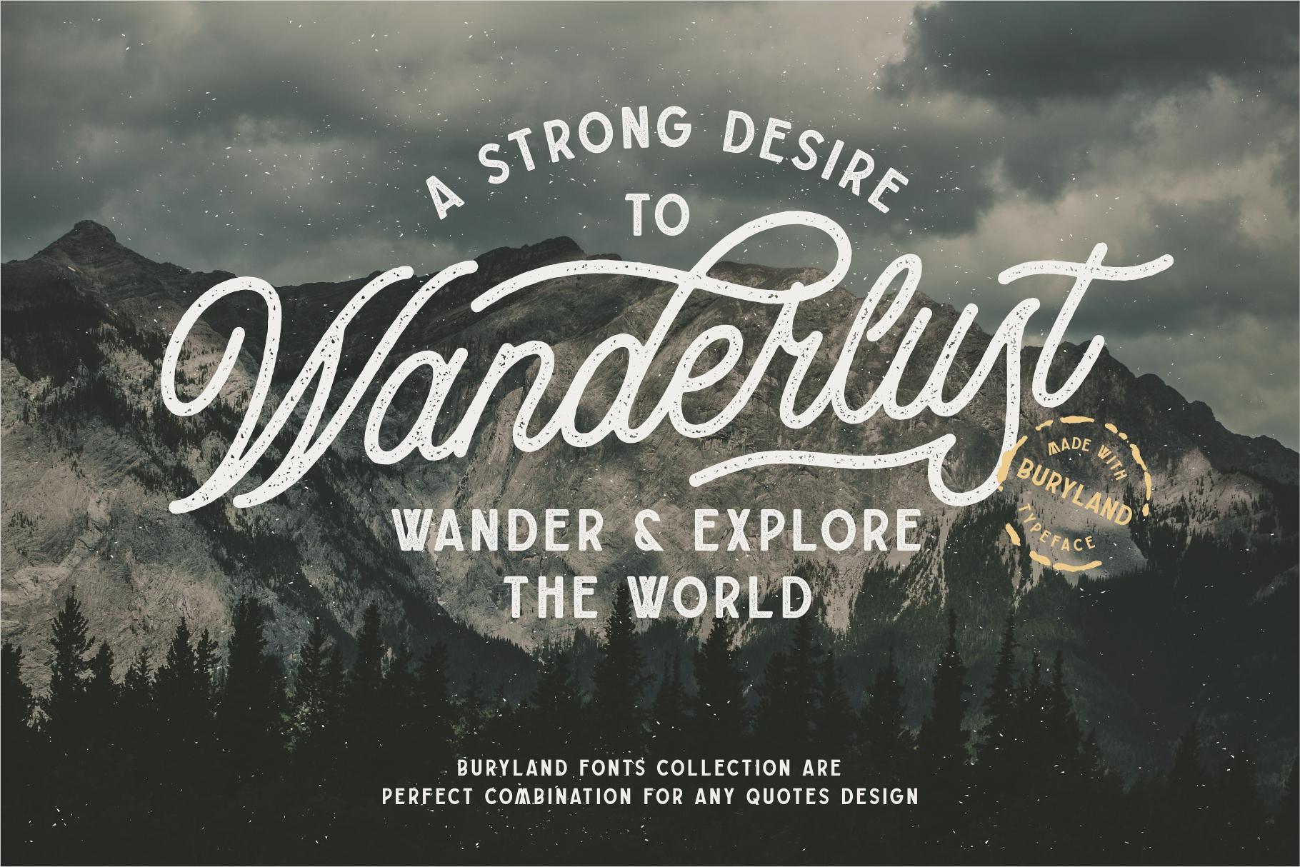 Buryland Typeface Collection example image 7