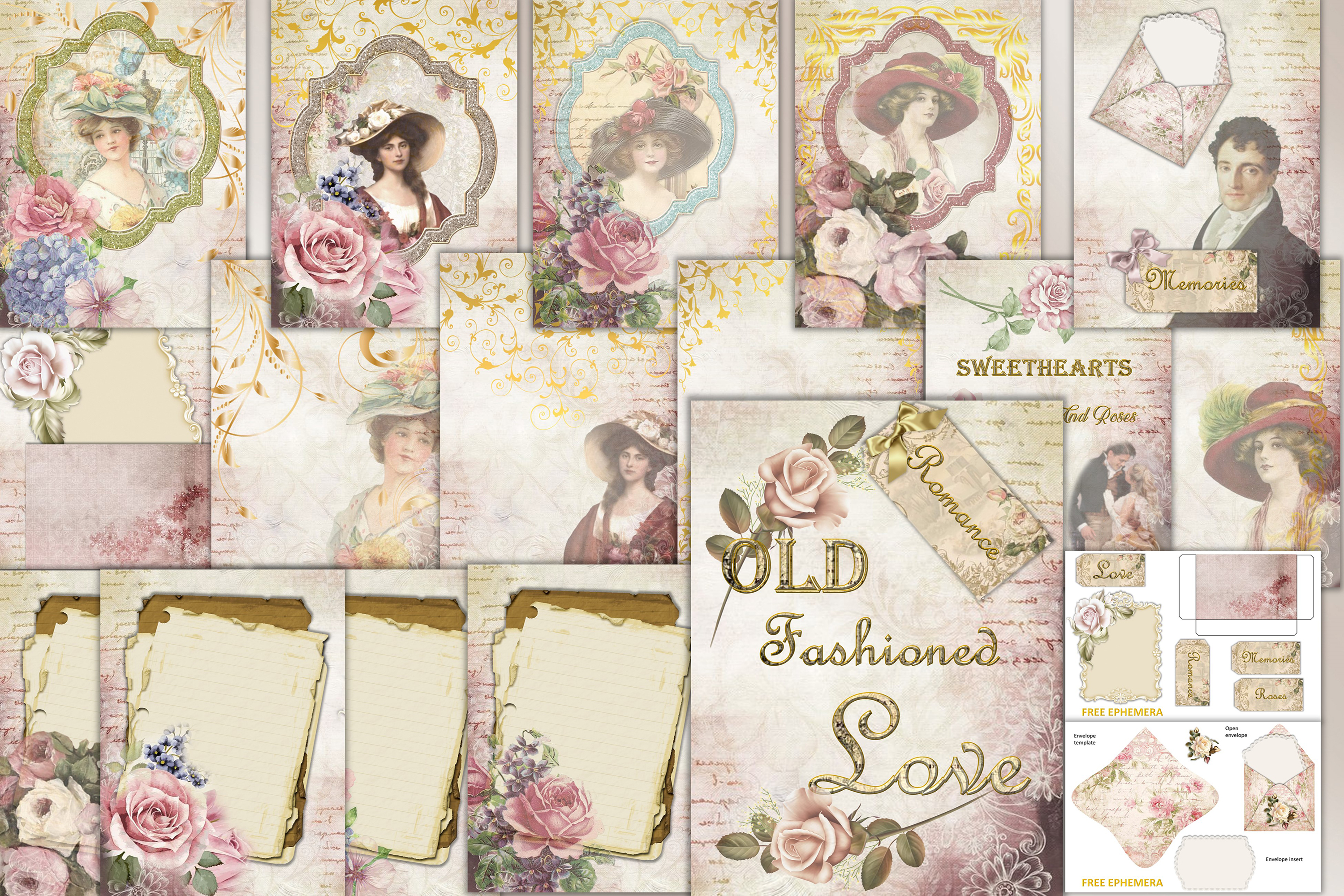 graphic relating to Free Printable Ephemera called Printable Journaling Package Victorian with Free of charge EPHEMERA cu