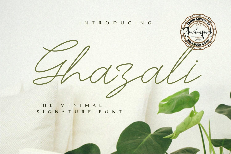 Ghazali - The Minimal Signature Font example image 1