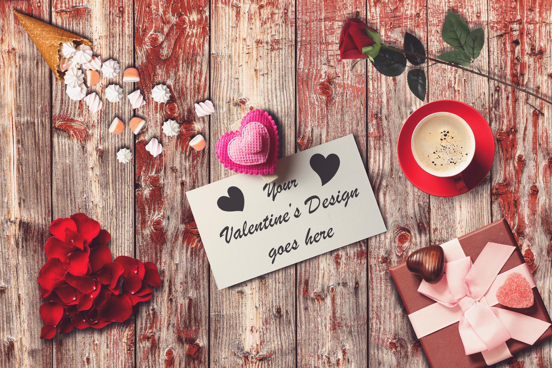 Valentine Card Mock-up #10 example image 1