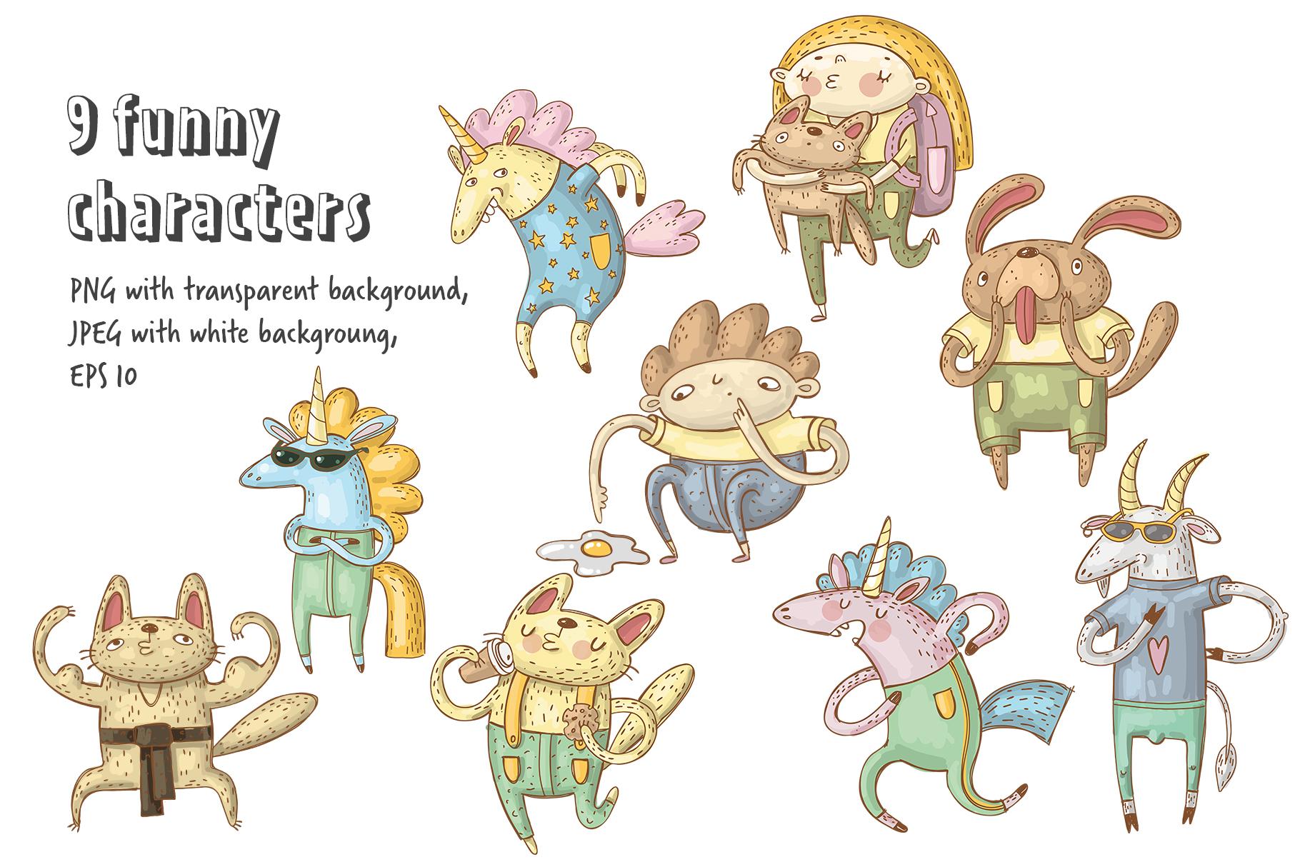 Funny animals set example image 6