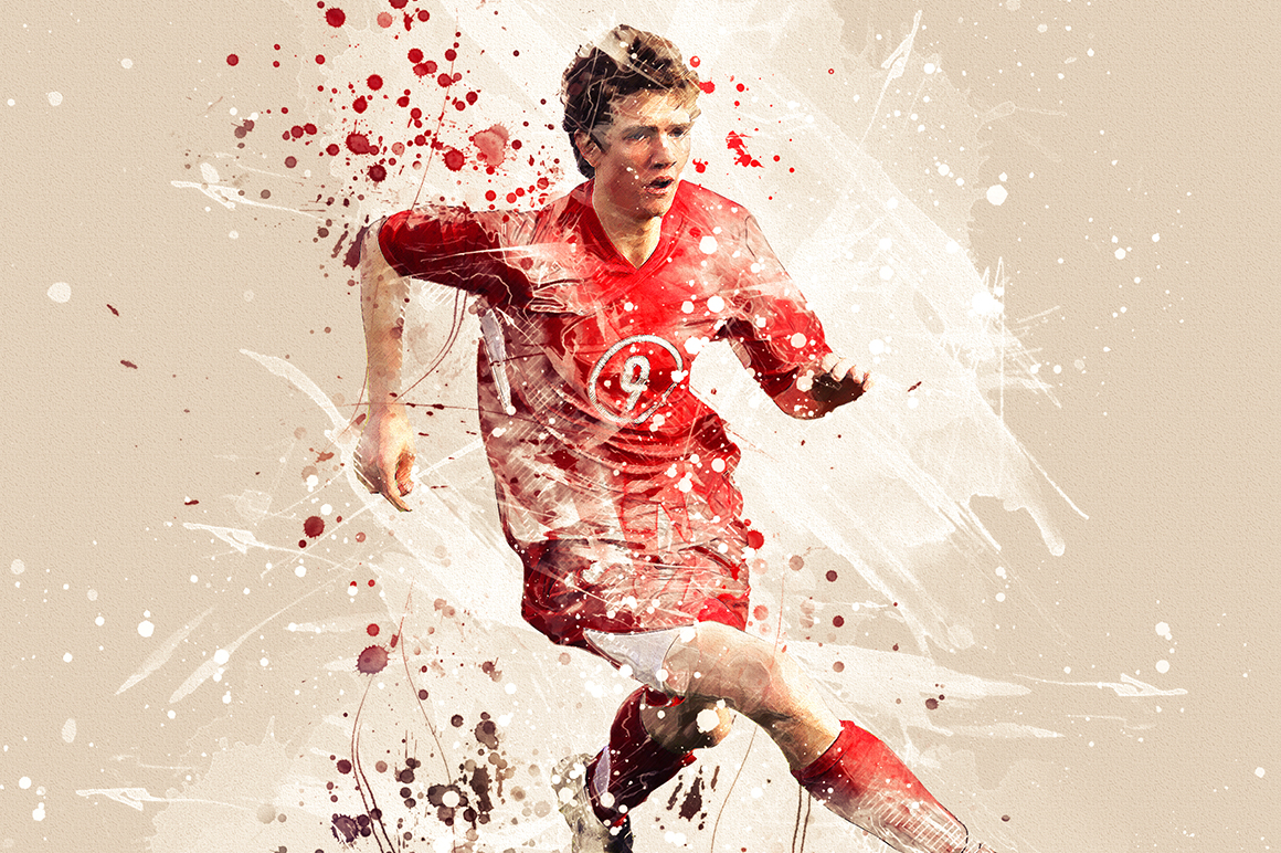 Sports Modern Art Photoshop Action example image 21