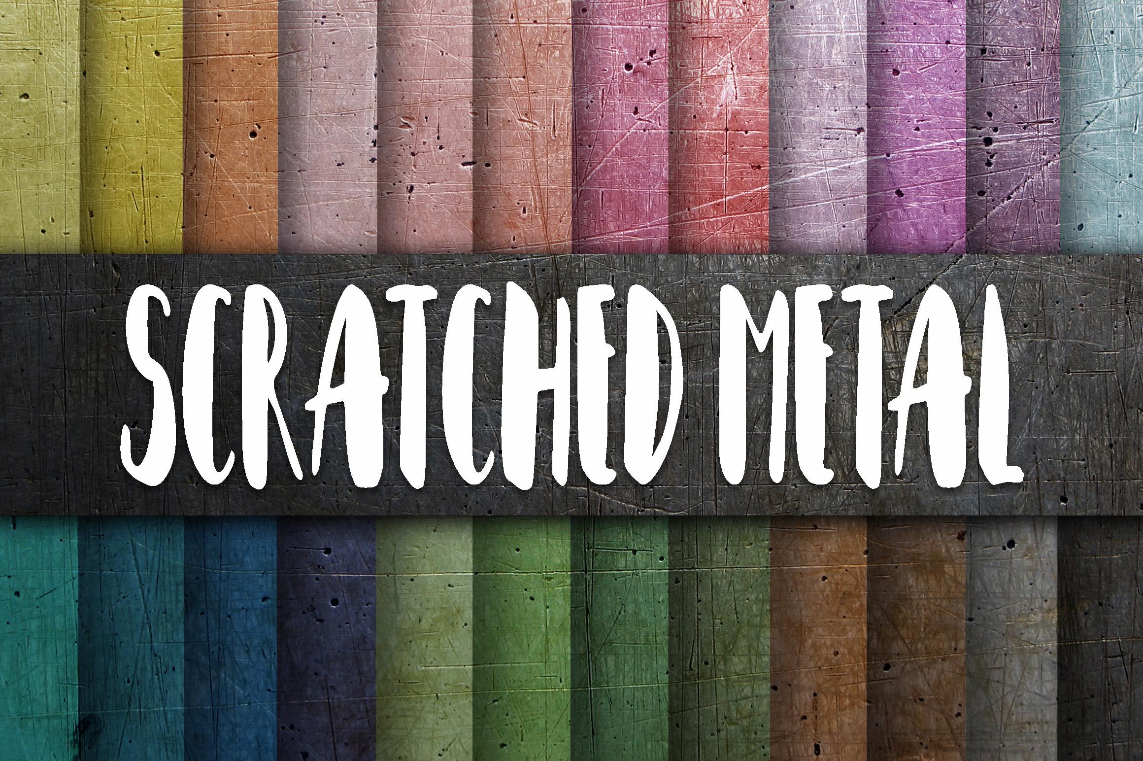 Scratched Metal Textures Digital Paper example image 1
