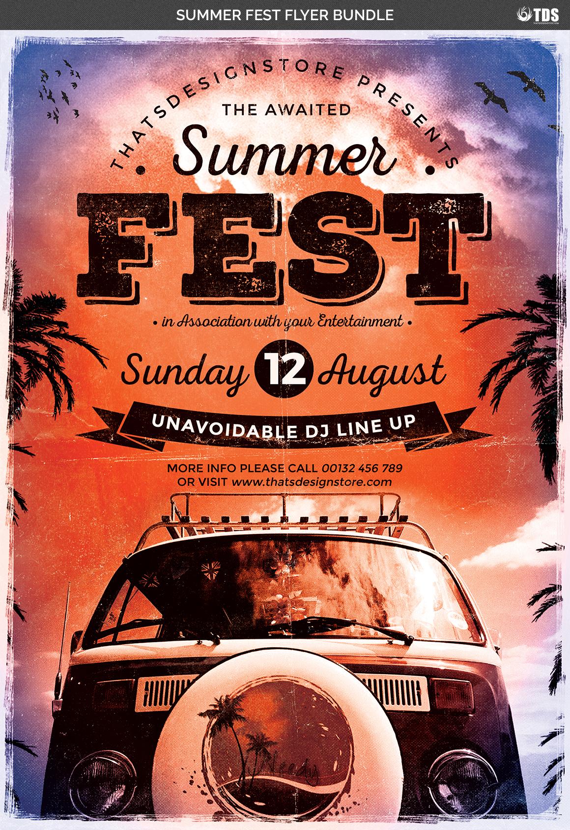 Summer Fest Flyer Bundle example image 7