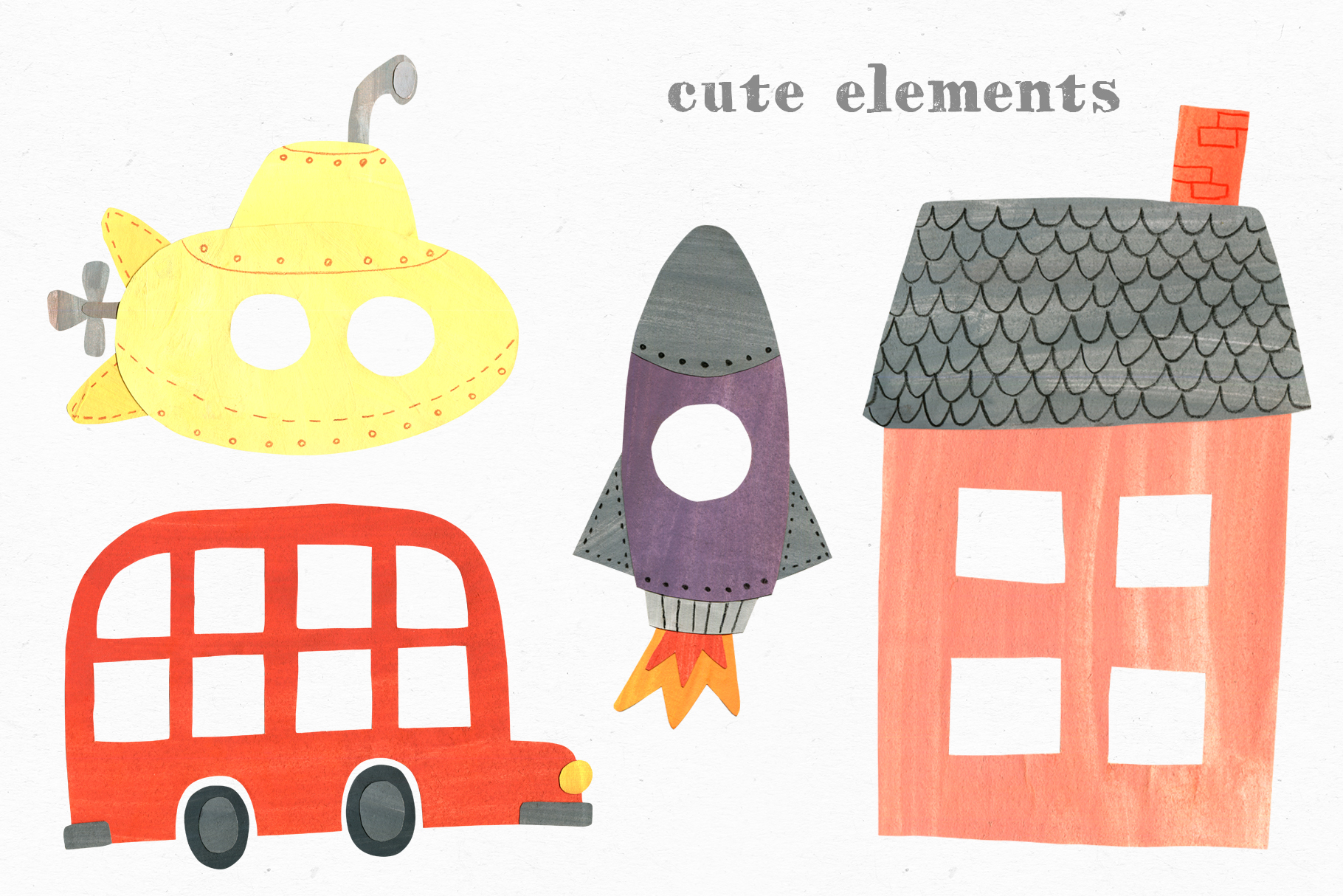 Papercut Animals Clipart example image 10