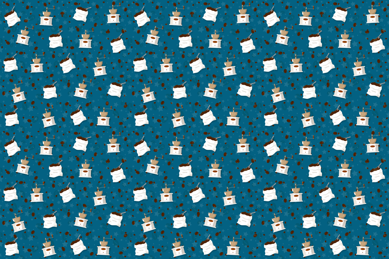 Coffee theme seamless patterns. example image 4