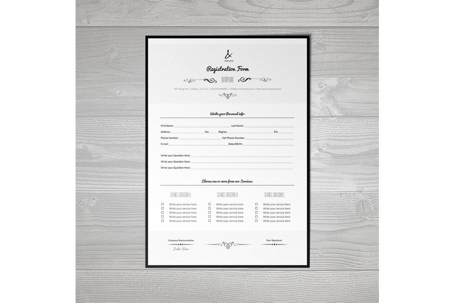 Registration Form Template v7 example image 5