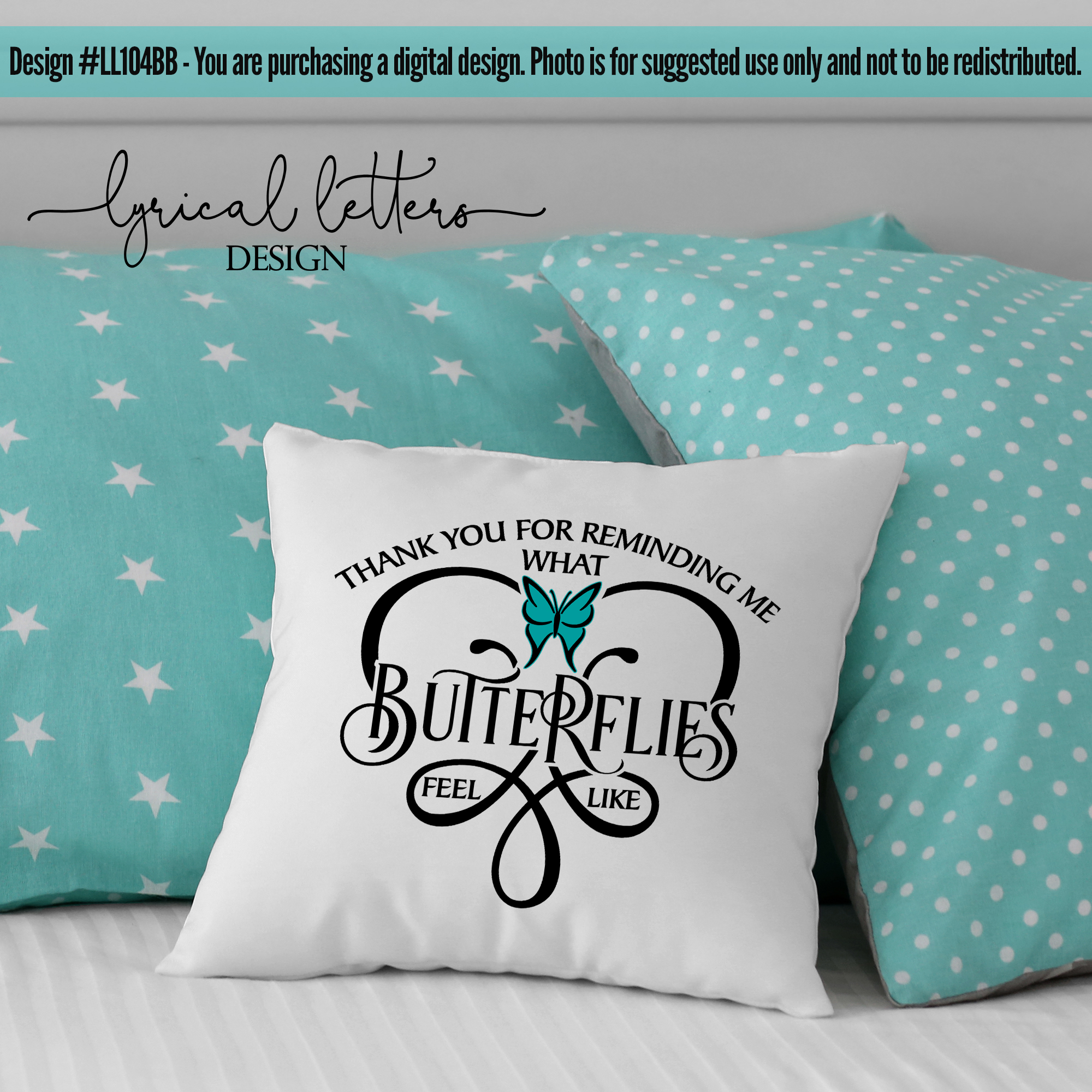 What Butterflies Feel Like Wedding Love SVG Cut File LL104B example image 2