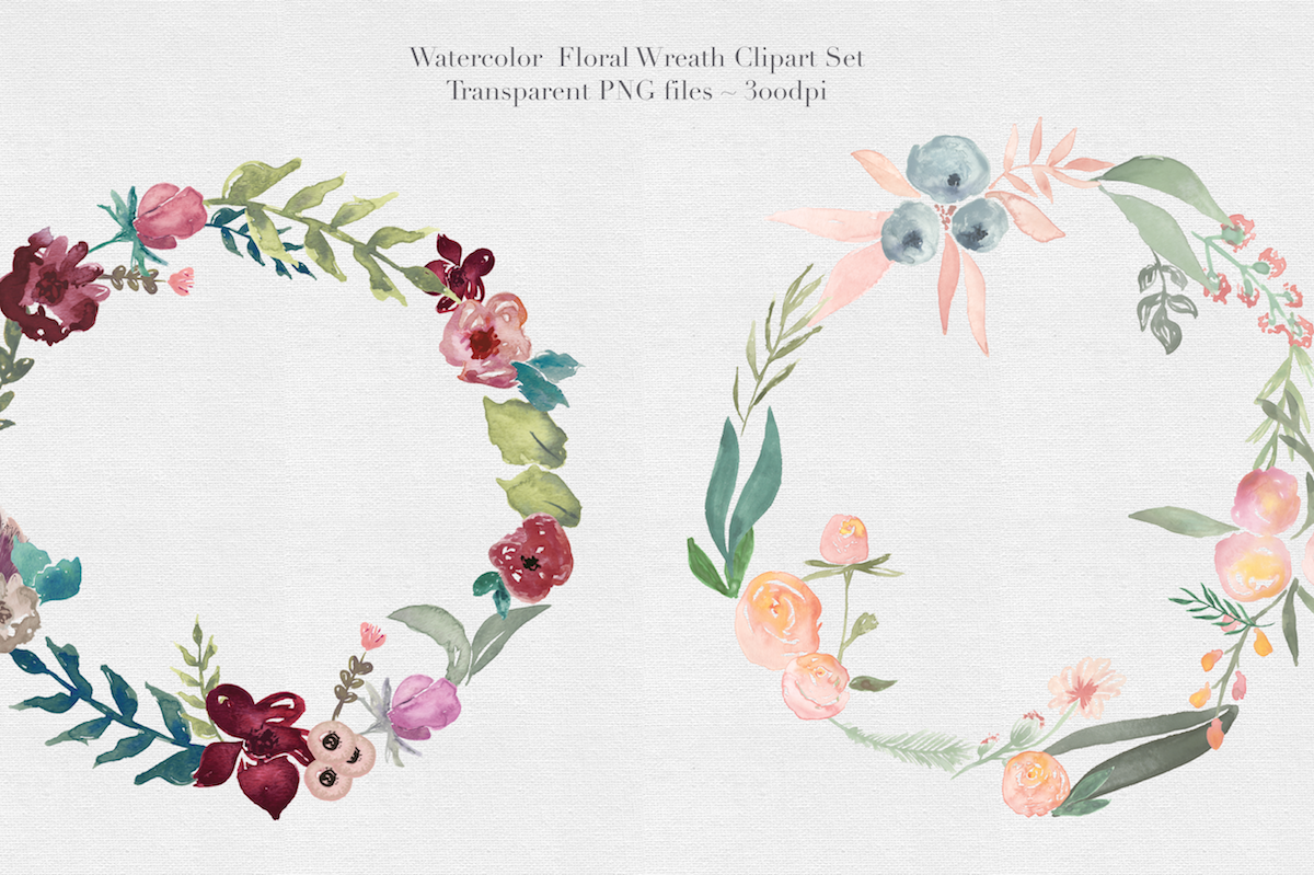 Watercolor Floral Wreaths Vol.1 example image 4