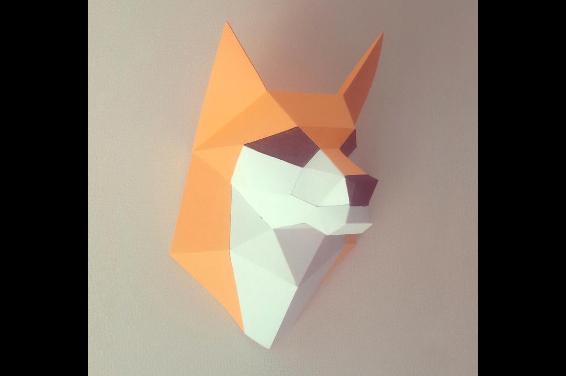 DIY Fox trophy - 3d papercraft example image 1