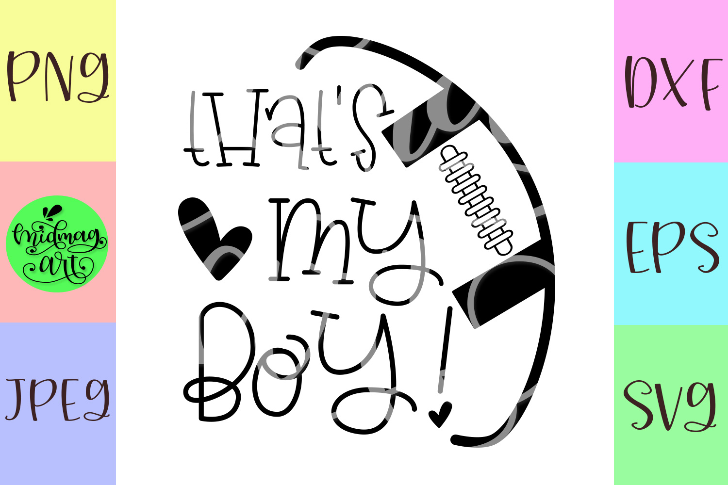 That's my boy football svg, football svg example image 2