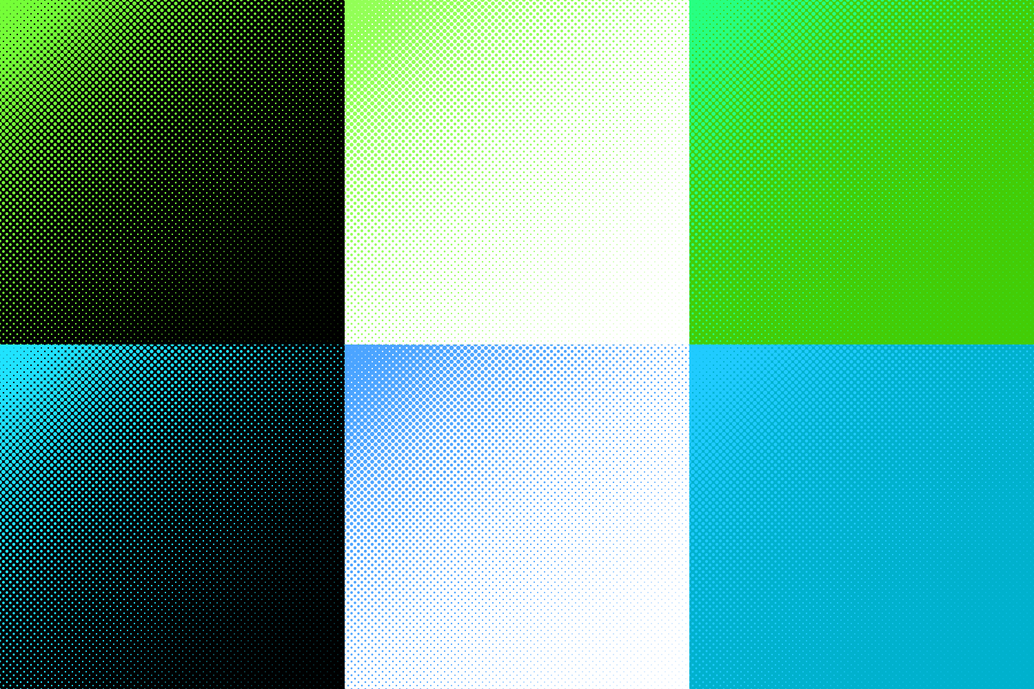 30 Halftone Circle Backgrounds (AI, EPS, JPG 5000x5000) example image 5