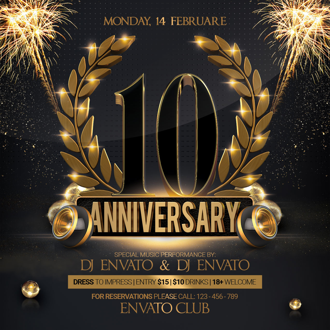 Anniversary Party Flyer example image 4