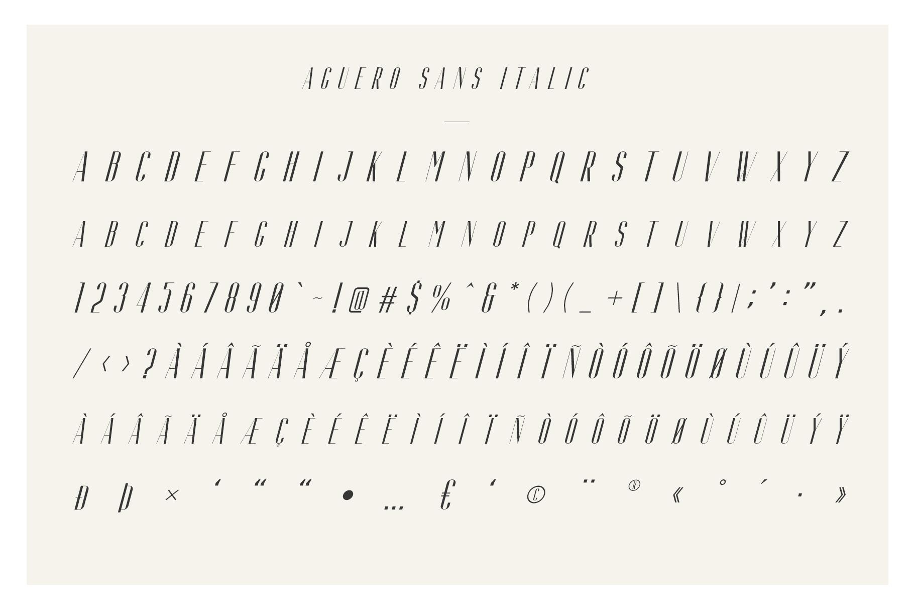 Aguero Sans - Font Family example image 7