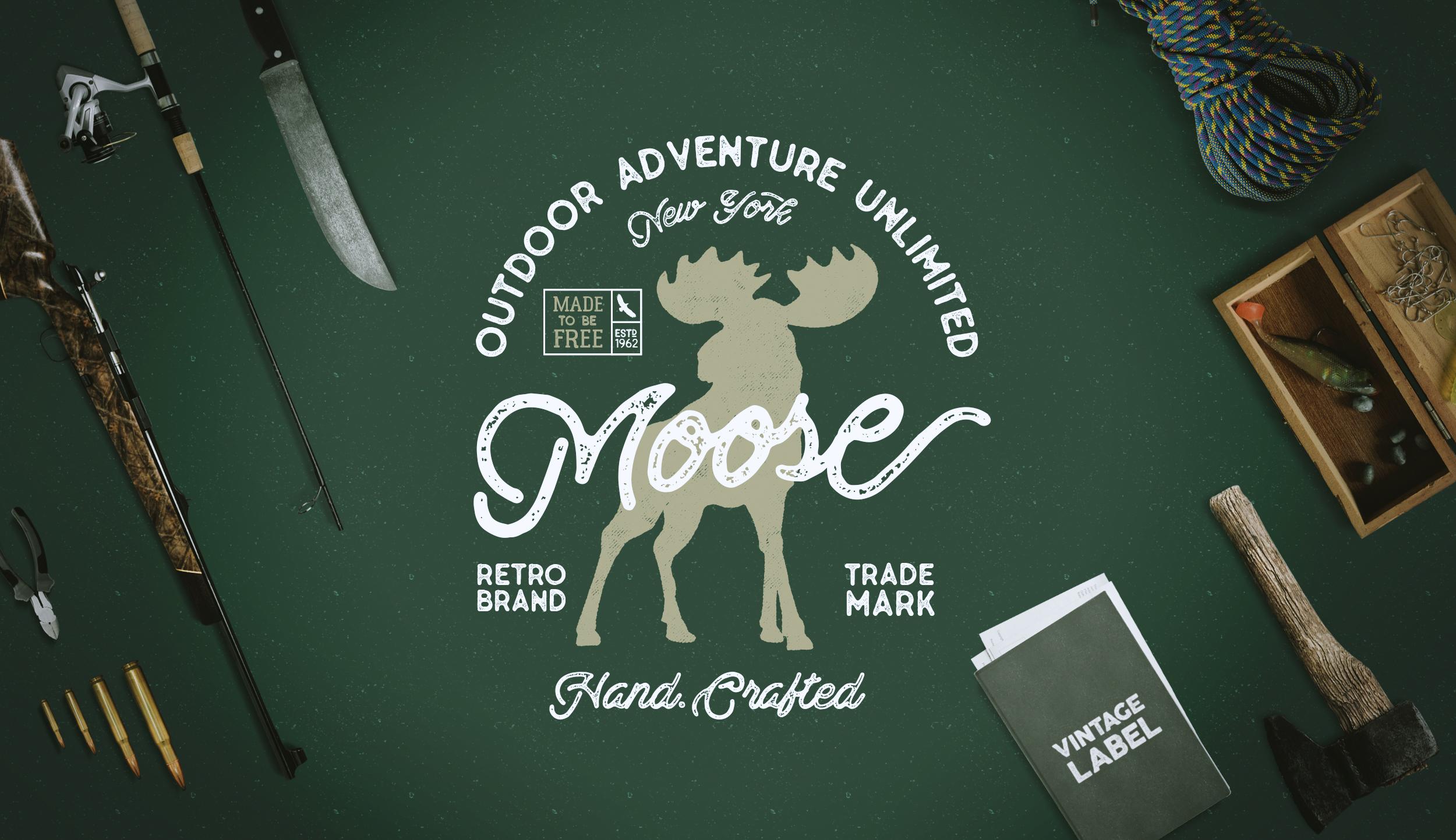 Moose Vintage Label example image 1