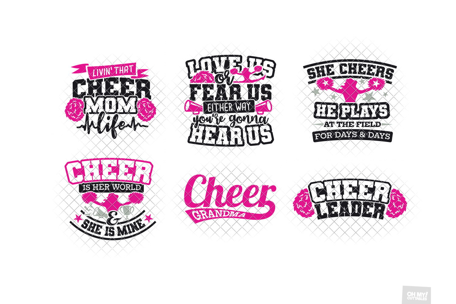 Cheer Mom SVG in SVG, DXF, PNG, EPS, JPG example image 4