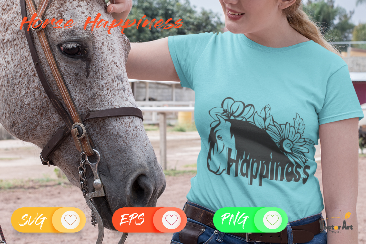 Horse Happiness - Cut File 2 Versions example image 3