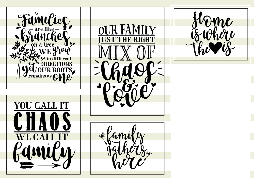 Family Love Quote SVG Cut Files Bundle example image 4