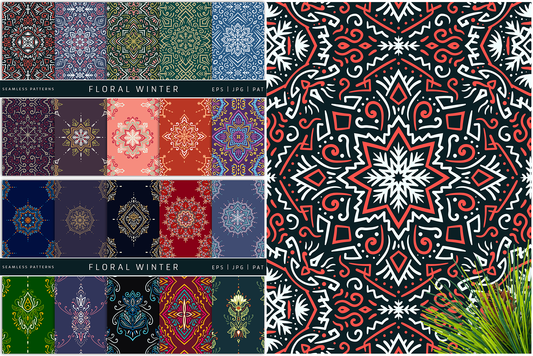 100 Seamless Patterns Vol.4 Christmas example image 4