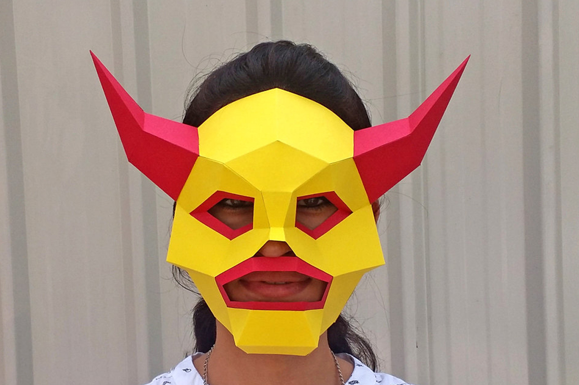 DIY Monster Mask - 3d papercraft example image 1