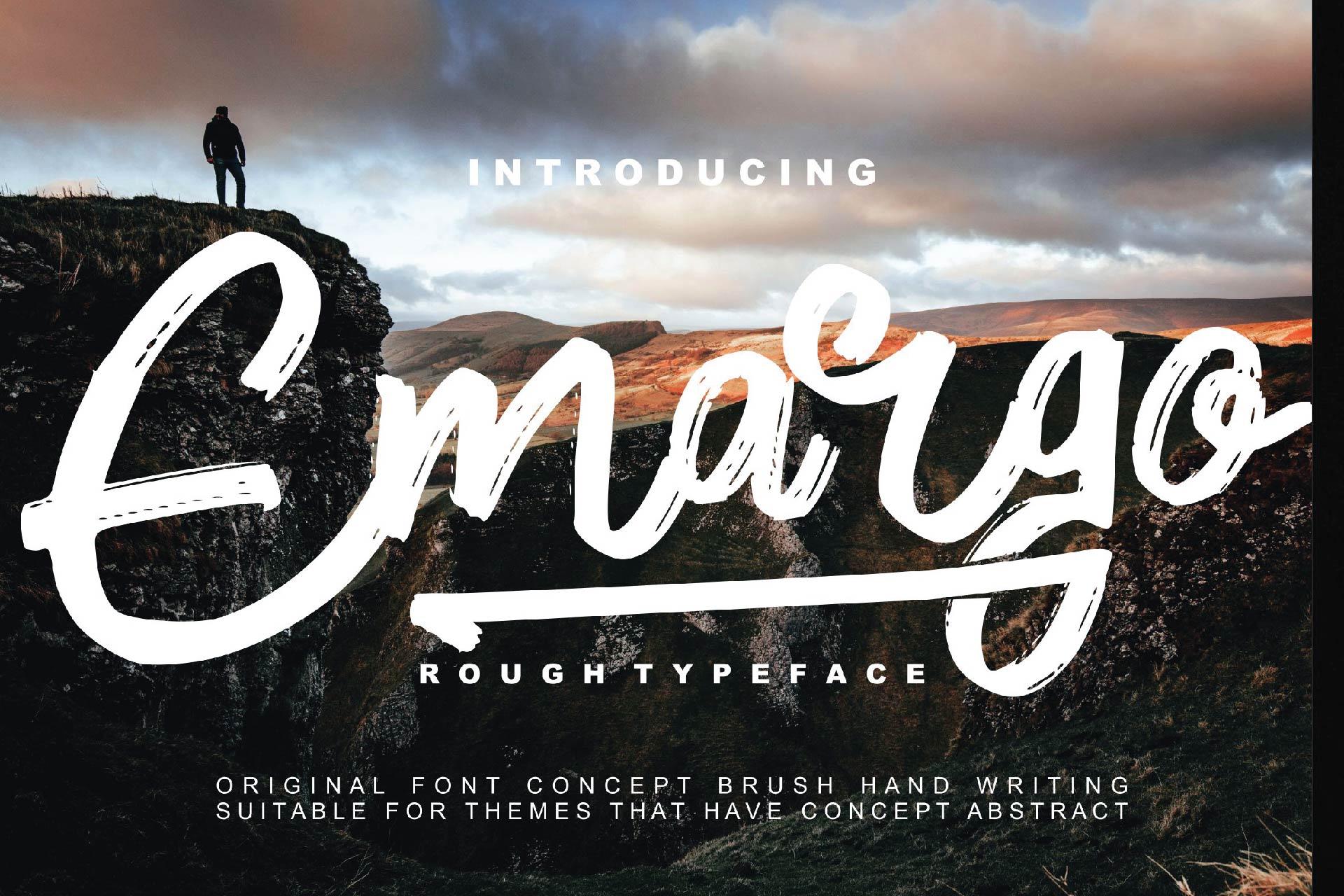 Emargo - Rough Typeface example image 1